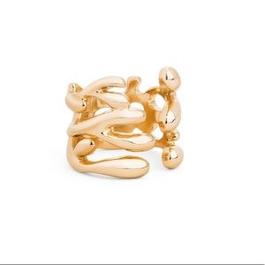 Jewelmint Gold Reef Wrap Around Ring